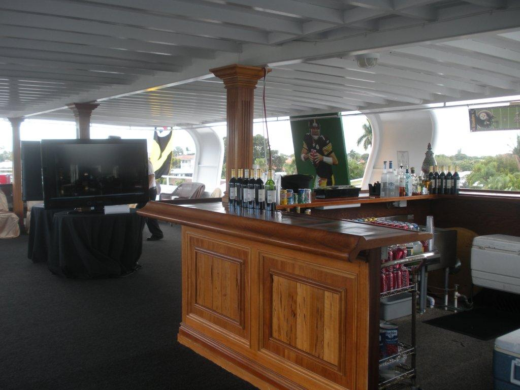 Super Bowl Logo Party Yacht Charter