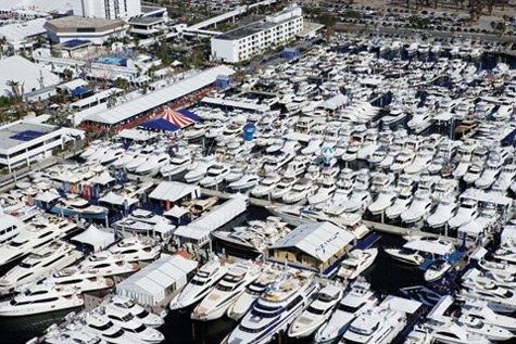 The Aqualounge at the Fort Lauderdale International Boat Show in Florida