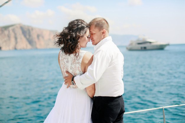 South Florida Weddings Yacht. Private Yacht Event Wedding in South FL