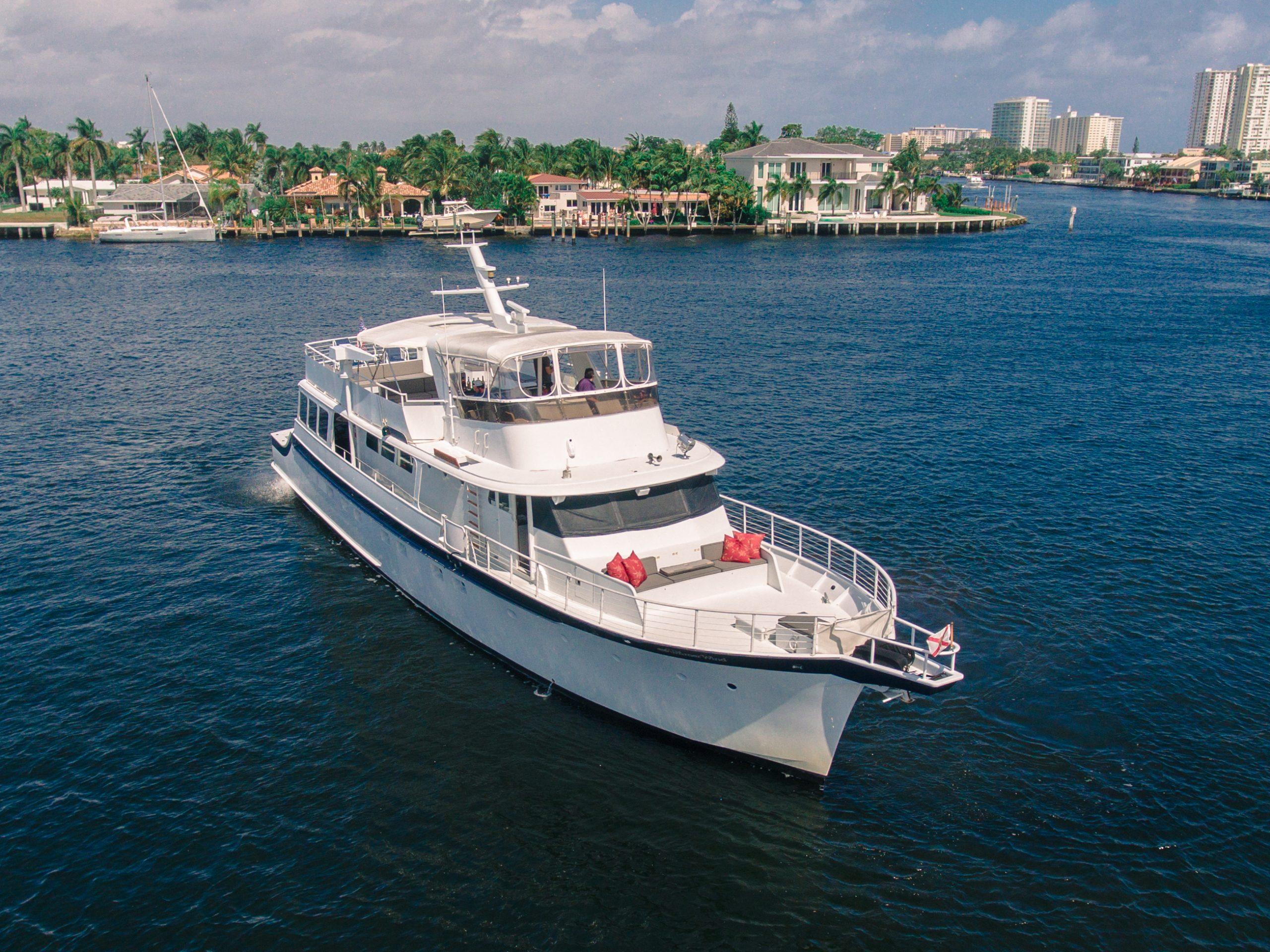 family boat ride in Miami